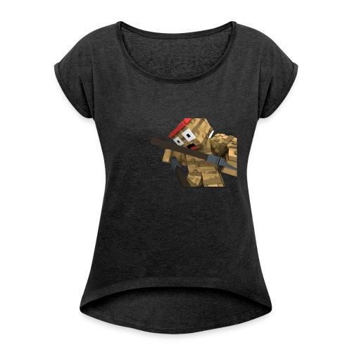 St0ckL3tsPl4y Skin - Frauen T-Shirt mit gerollten Ärmeln