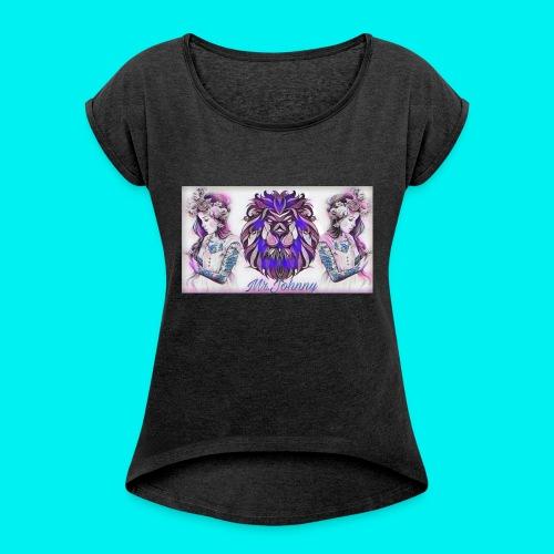 Mr.Johnny - Frauen T-Shirt mit gerollten Ärmeln