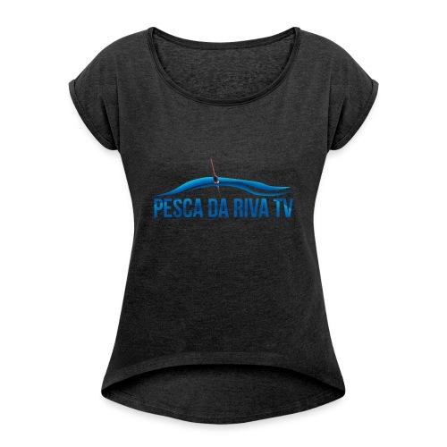Pesca da riva TV - Maglietta da donna con risvolti