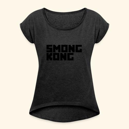 Smong kong merkevare - T-skjorte med rulleermer for kvinner