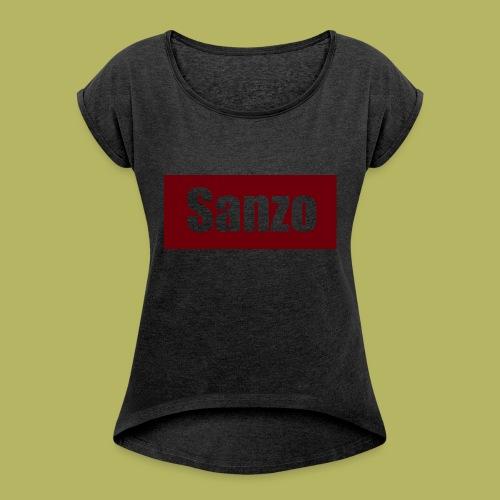 Sanzo - Vrouwen T-shirt met opgerolde mouwen