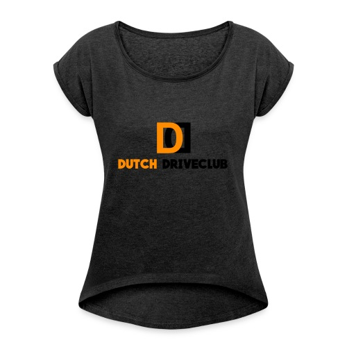Dutch Driveclub logo - Vrouwen T-shirt met opgerolde mouwen