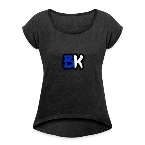 bk - Women's T-shirt with rolled up sleeves