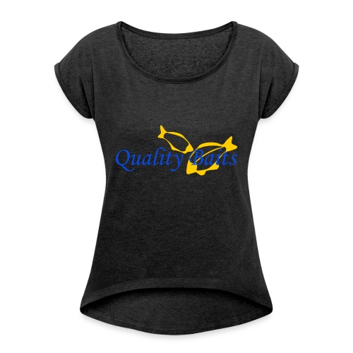 Quality Baits Logo - Women's T-shirt with rolled up sleeves
