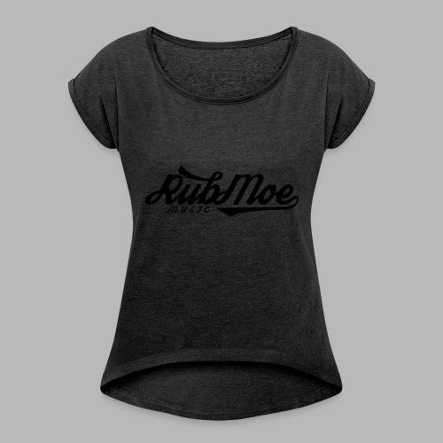 RubMoe - T-skjorte med rulleermer for kvinner