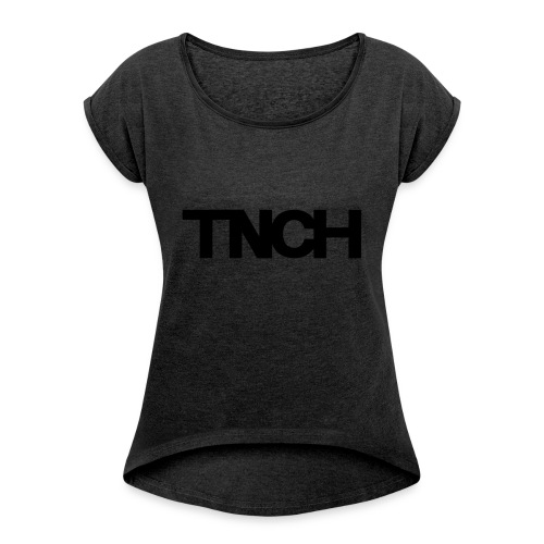 TNCHblack - Women's T-shirt with rolled up sleeves