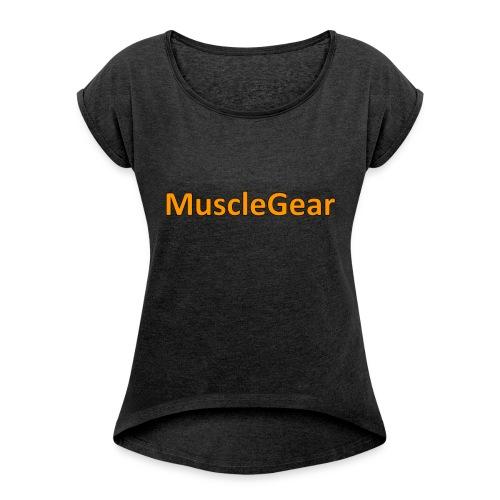 MuscleGear - Dame T-shirt med rulleærmer