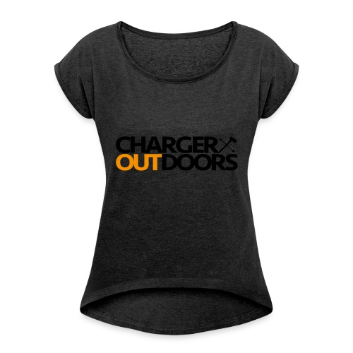 Charger Outdoors Logo - Women's T-shirt with rolled up sleeves