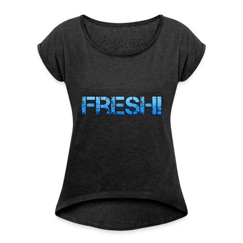 Merch von DieBrosZocken - Frauen T-Shirt mit gerollten Ärmeln