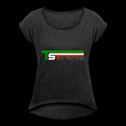 TST official - Maglietta da donna con risvolti