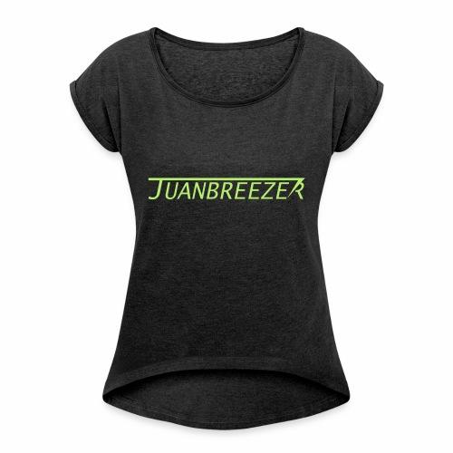 Juanbreezer Logo - Vrouwen T-shirt met opgerolde mouwen