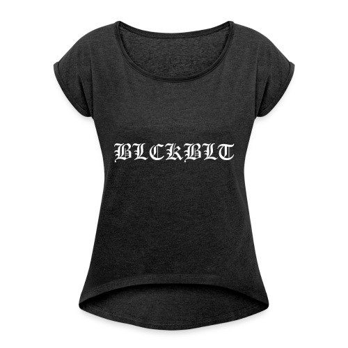 BLCKBLT Classic - Frauen T-Shirt mit gerollten Ärmeln
