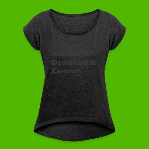 Gråt Navn - Dame T-shirt med rulleærmer