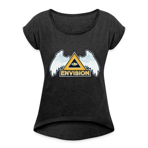 Envision Gaming Mascot - Frauen T-Shirt mit gerollten Ärmeln