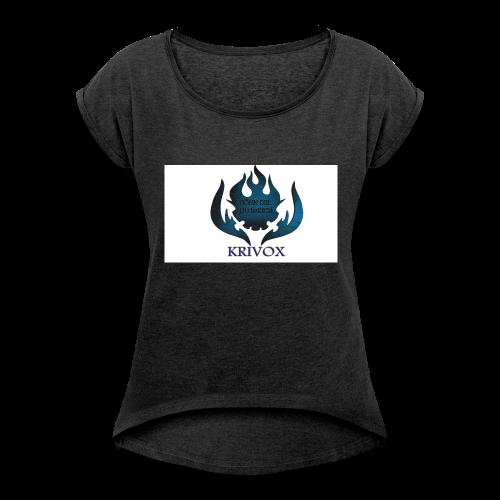PREMIUM LÄTZCHEN - Frauen T-Shirt mit gerollten Ärmeln