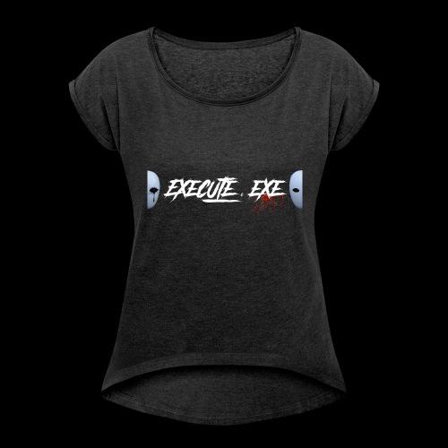 execute.exe - T-shirt à manches retroussées Femme