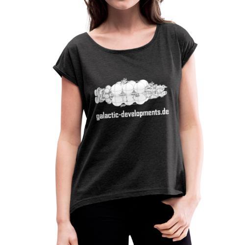24th Century Cruiser - Frauen T-Shirt mit gerollten Ärmeln