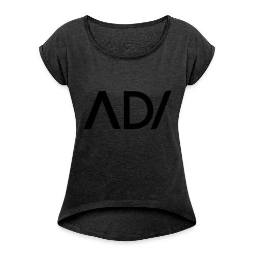 Anpassa AD / logo - T-shirt med upprullade ärmar dam