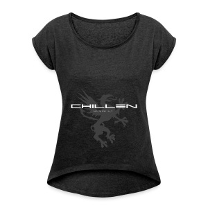 Chillen-gym - Women's T-shirt with rolled up sleeves