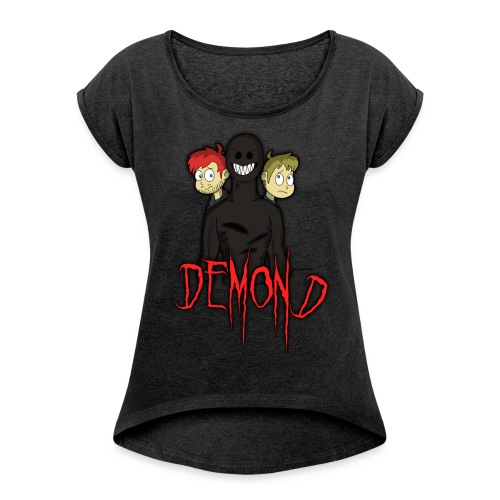 'DEMOND' Tshirt (Colesy Gaming - YouTuber) - Women's T-shirt with rolled up sleeves