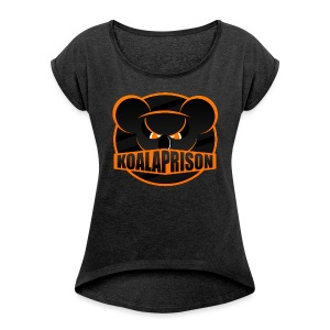 Koala Prison Logo - Women's T-shirt with rolled up sleeves