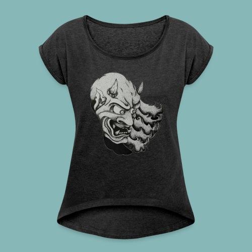OniTattooSketch - Maglietta da donna con risvolti