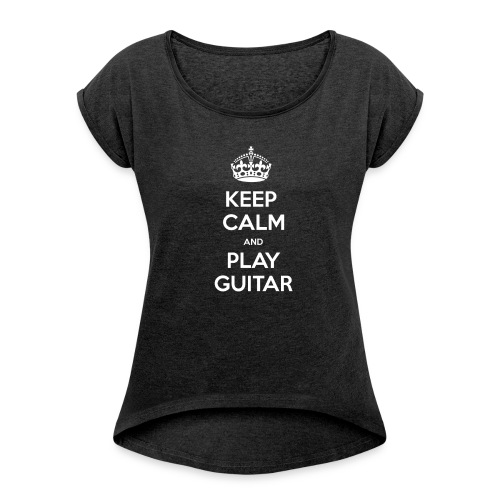 Keep Calm And Play Guitar - Maglietta da donna con risvolti