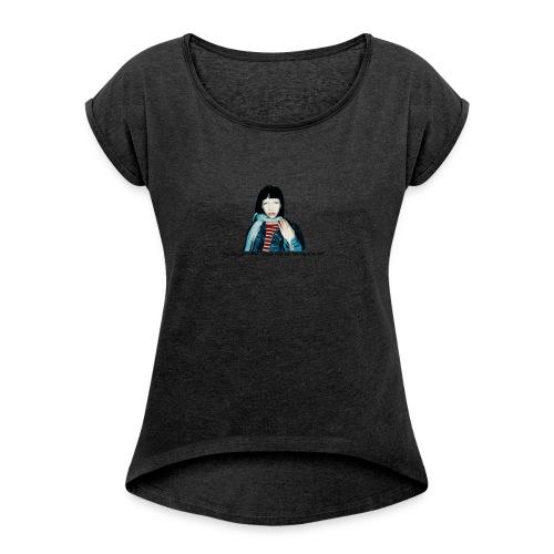 Kent - Lilla Ego - T-shirt med upprullade ärmar dam