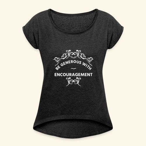 LCB - Women's T-Shirt with rolled up sleeves