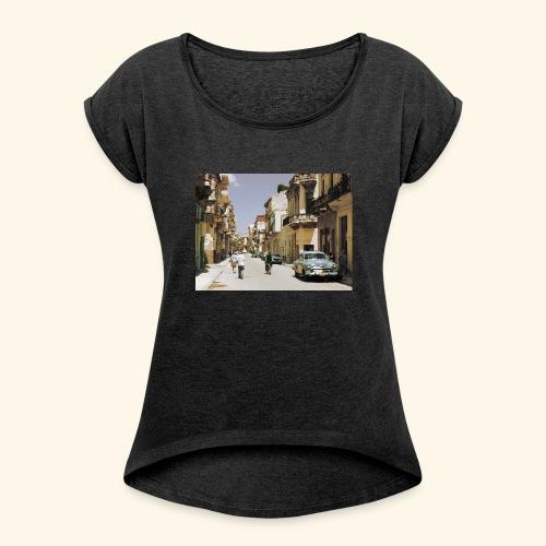 Havana Club - T-shirt à manches retroussées Femme