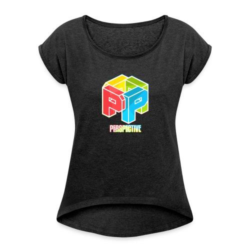 Perspective - T-shirt à manches retroussées Femme
