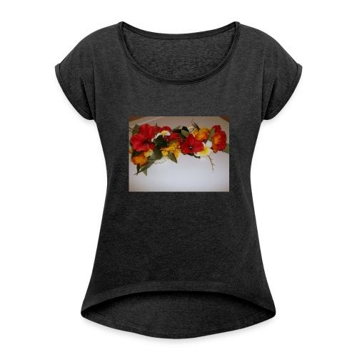 11138598_1384820645175204_2878834941379800483_n - T-shirt à manches retroussées Femme