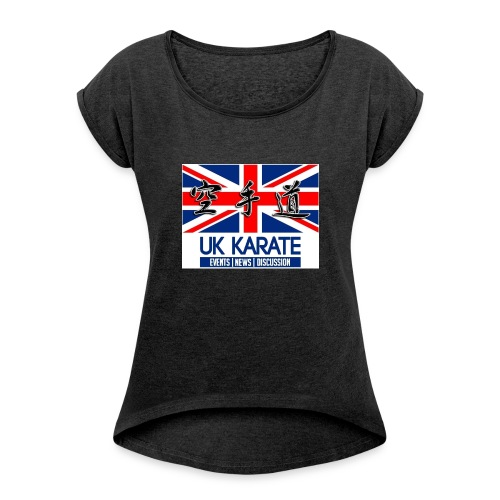 UKkarate - Women's T-shirt with rolled up sleeves