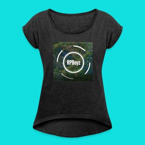 RPBoy Logo - Frauen T-Shirt mit gerollten Ärmeln