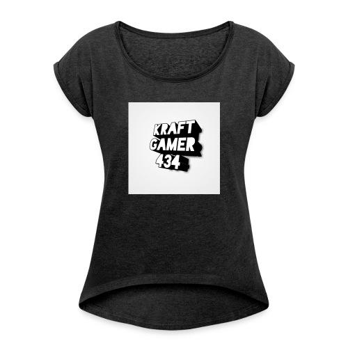 KraftGamer 434 - Frauen T-Shirt mit gerollten Ärmeln