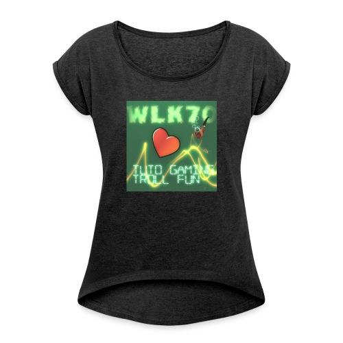 WLK70 T-shirt Spetial - T-shirt à manches retroussées Femme