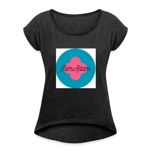 IamAdam - T-shirt med upprullade ärmar dam