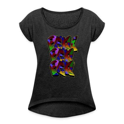 PENIPENPEN GRAFFITI - Frauen T-Shirt mit gerollten Ärmeln