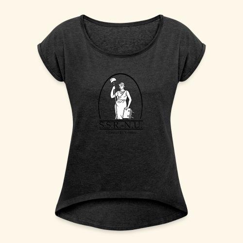 Uniemaagd 2 - Vrouwen T-shirt met opgerolde mouwen