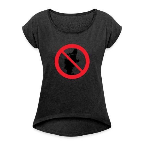 Jylland forbudt - Dame T-shirt med rulleærmer