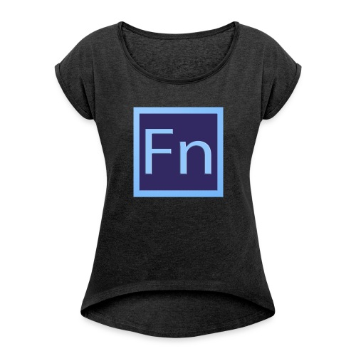 zaino con logo di falsonome - Maglietta da donna con risvolti