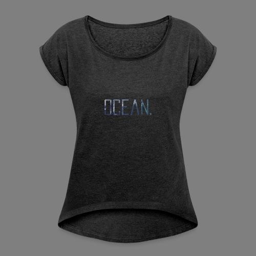 Ocean - Camiseta con manga enrollada mujer