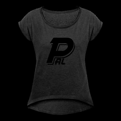 Pal Zwart - Vrouwen T-shirt met opgerolde mouwen