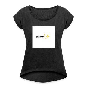 sparkle - Vrouwen T-shirt met opgerolde mouwen