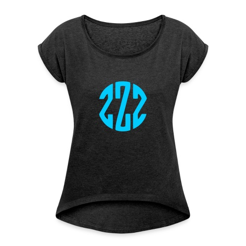 ------------------------------- - Women's T-shirt with rolled up sleeves