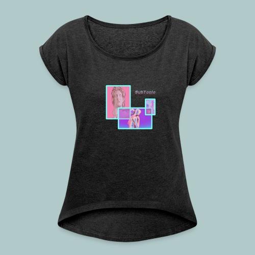 SubTonic // OG - T-shirt med upprullade ärmar dam