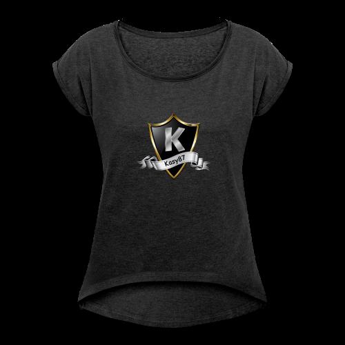 Kasy87 Merch - Frauen T-Shirt mit gerollten Ärmeln