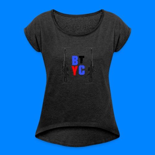 Blurixincommander YT AS50 Logo - Frauen T-Shirt mit gerollten Ärmeln