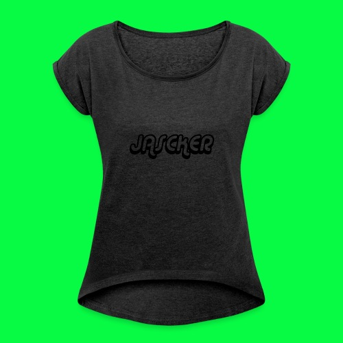 Jasckermerch1 - Women's T-shirt with rolled up sleeves