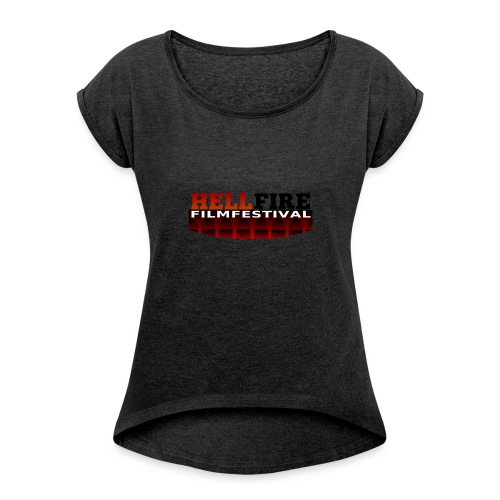 Hellfire Film Festival logo - Women's T-shirt with rolled up sleeves